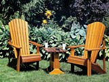 Free Adirondack Lawn Chair and Table Plan
