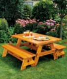 Free Versatile picnic table Plan