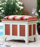Free Outdoor storage bench Plan