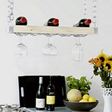 Free DIY hanging wine rack Plan