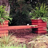 Free Learn how to build an outdoor planter bench; includes step-by-step instructions along with tips, materials, and tools lists. Plan