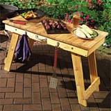 Fold away braai table plans