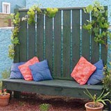 DIY patio screen and bench plans