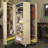 Mobile storage unit for garage plans