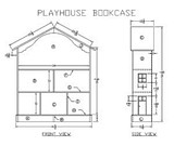 Wooden Playhouse Bookcase plans