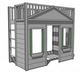 Little Cottage Loft Bed plans
