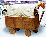 Free Covered Wagon Toy Box Plan