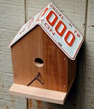 Free Licence Plate Bird House Plan