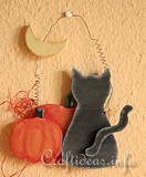 Free Black Cat and Moon Hallowen Plan