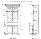 Built In Oak China Cabinet plans
