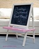 Toddler Chalkboard Easel plans