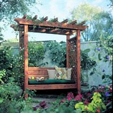 Garden arbor bench plans