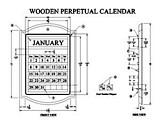 Wooden Perpetual Calendar plans