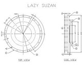 Wood Lazy Susan Turntable plans