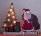 Lighted Father Christmas Decoration plans