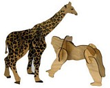 Giraffe and Gorilla Wood Models plans