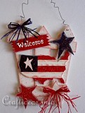 Wooden American Welcome Sign plans
