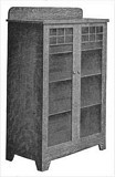 Wooden Mission Style Bookcase plans