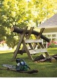 Brush and Log Sawhorse plans