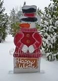 Happy Winter Snowman Door Greeter plans