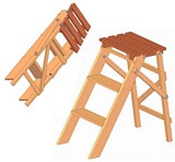 Folding step ladder plans