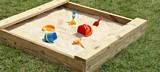 Simple Wooden Sandbox plans